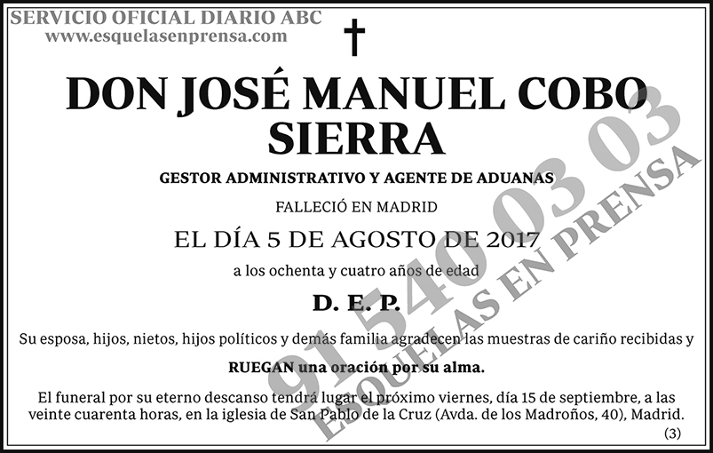 José Manuel Cobo Sierra